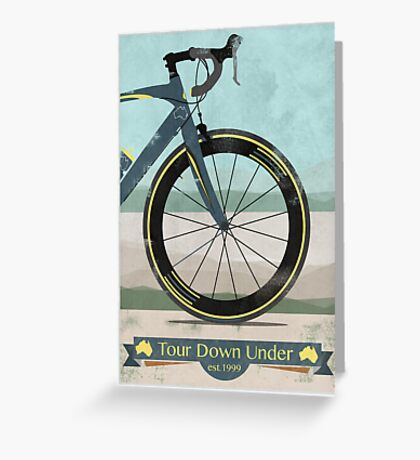 Tour Down Under Bike Race Greeting Card