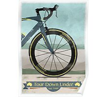 Tour Down Under Bike Race Poster