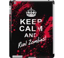 KEEP CALM RUN ZOMBIES iPad Case/Skin