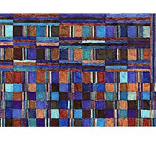 Abstract Art Study - Blues & Browns & Greys Poster, Print & Card Photographic Print