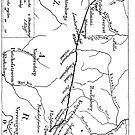 1895 Route Map of Jameson Raid by Maree Clarkson