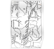 1895 Route Map of Jameson Raid Poster