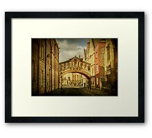 Oxford City Framed Print