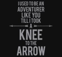 Knee to the Arrow by Graphox