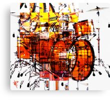 Cubist Drums Canvas Print