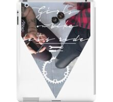 Girls on bike _ let's ride iPad Case/Skin