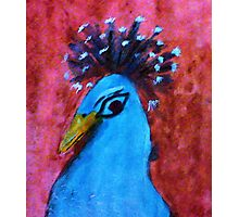 The head of a male Peacock, series, watercolor Photographic Print