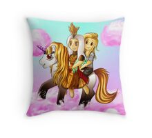 Lady Gaga - Gaga x Tara on the road to love. Throw Pillow