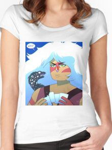 Meanwhile in the sea Women's Fitted Scoop T-Shirt