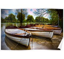 Shakespeare's boats at Stratford upon Avon, UK Poster