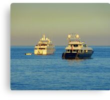 Anchored Off Cap Ferrat Canvas Print
