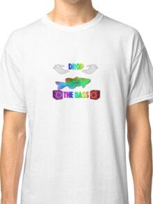 Drop The Bass - Rainbow Dubstep Shirt Classic T-Shirt