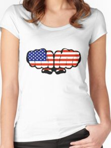 US Fists Women's Fitted Scoop T-Shirt