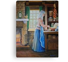 The Cook Finished & Signed Canvas Print