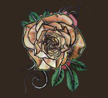 yellow tattoo rose by resonanteye