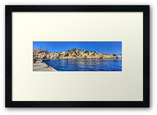 Gialos Harbour Panorama by Tom Gomez