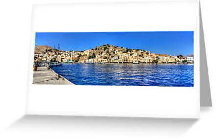 Gialos Harbour Panorama by Tom Gomez