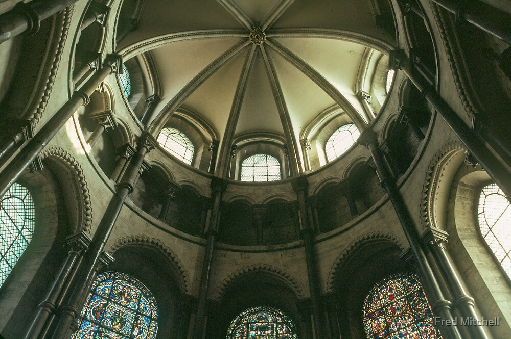 Apse Ceiling Canterbury Cathedral 19840214 0038  by Fred Mitchell
