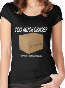 Too Much Chaos Women's Fitted Scoop T-Shirt