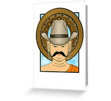 The Great Plains Buddha - In glorious technicolor Greeting Card