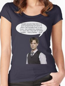 spencer reid quotes the doctor Women's Fitted Scoop T-Shirt