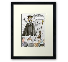 The white ego Framed Print
