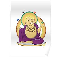 The Juggling Buddha - Color Poster