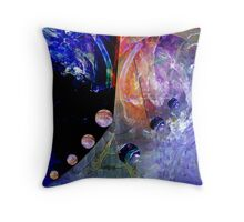 Floating Abstract Throw Pillow