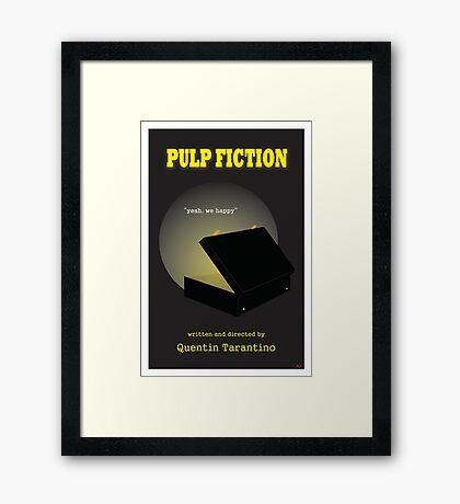 Pulp Fiction Minimalist Movie Poster Framed Print