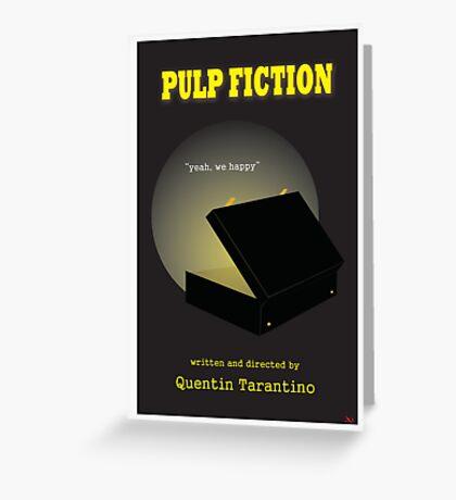 Pulp Fiction Minimalist Movie Poster Greeting Card