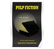Pulp Fiction Minimalist Movie Poster Poster