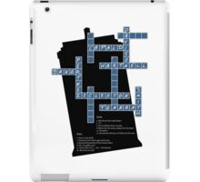 Doctor Who Cross Word Puzzle iPad Case/Skin