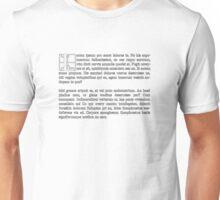 Lorum Ipsum Unisex T-Shirt