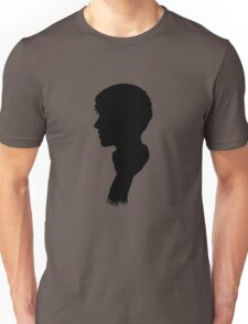 Sherlock's Profile: black Unisex T-Shirt