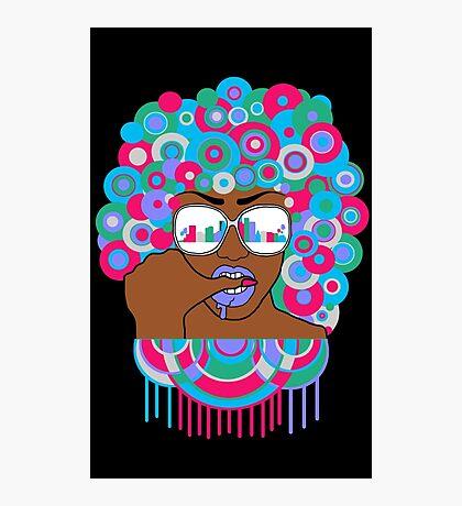 Afro in LA  Photographic Print