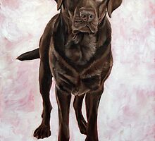 Chocolate Lab Painting by Bffpetpaintings
