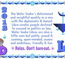 Chinese Zodiac water snake 1953 & 2013 born  Libra by Valxart