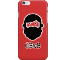 Beardy Boy Logo - Red iPhone Case/Skin