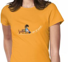 Little Helper Let it Snow {dark apparel} Womens Fitted T-Shirt
