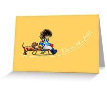 Winter Fun Warm Wishes Greeting Card