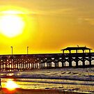 Stroll To The Pier In HDR by Dawne Dunton