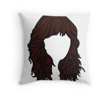 Zooey Deschanel Hair  Throw Pillow