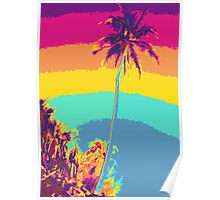 Kauluwela Moku 30 Tropical Island Color Graphic Art Poster
