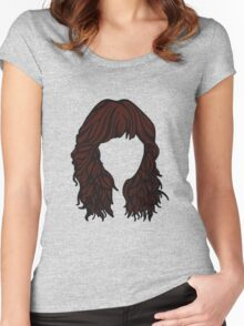 Zooey Deschanel Hair  Women's Fitted Scoop T-Shirt