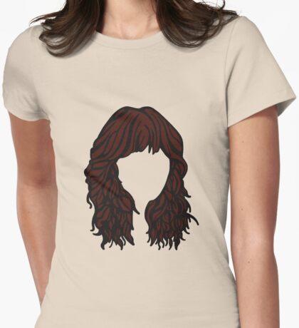 Zooey Deschanel Hair  Womens Fitted T-Shirt