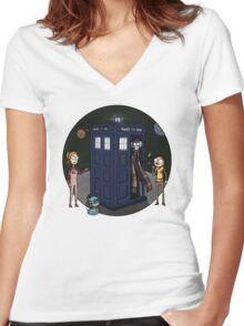 T.A.R.D.I.S Women's Fitted V-Neck T-Shirt
