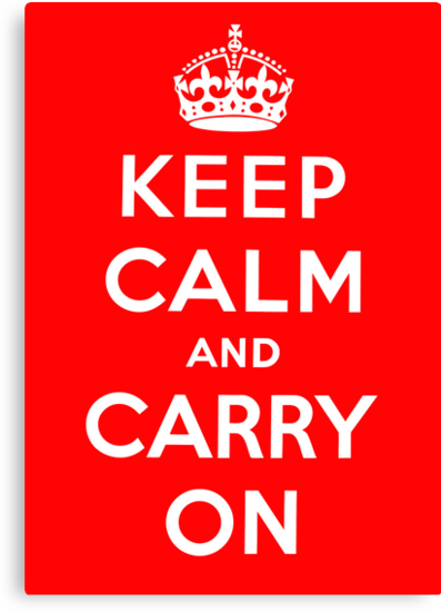 KEEP CALM AND CARRY ON (BLACK) by TheLoveShop