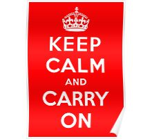 KEEP CALM AND CARRY ON (BLACK) Poster