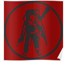 The Astronuts Logo Monochromatic Poster