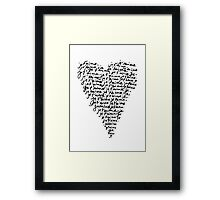 je t'aime ♥ i love you Framed Print